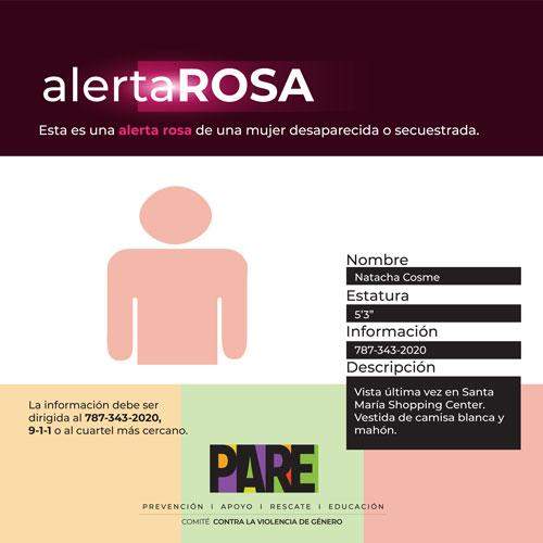 Ejemplo de Alerta Rosa